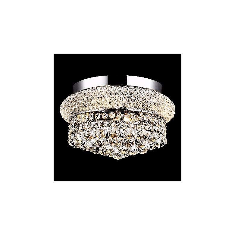 "Primo Crystal 12"" Wide Chrome Flushmount Ceiling Light"