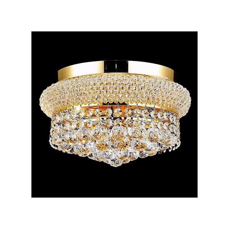 Primo 4-Light Royal Cut Crystal and Gold Ceiling Light