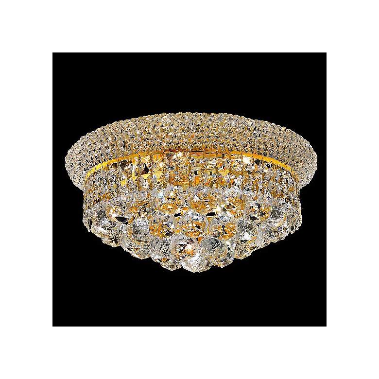 Primo 6-Light  Royal Cut Crystal and Gold Ceiling Light