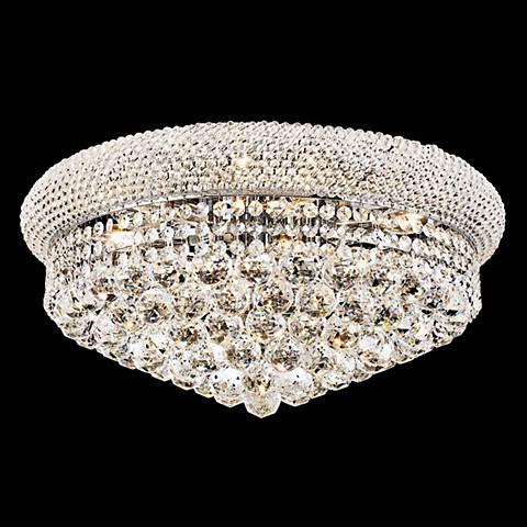 Primo 10-Light  Royal Cut Crystal and Chrome Ceiling Light