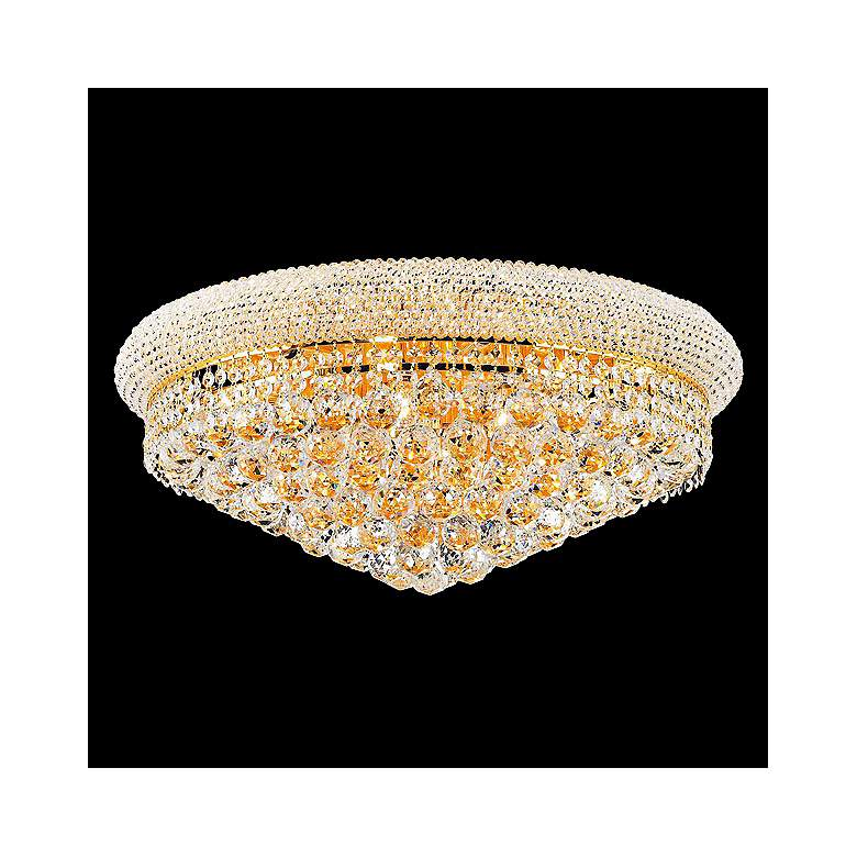 """Primo 24"""" Wide 12-Light Gold Cut Crystal Ceiling Light"""