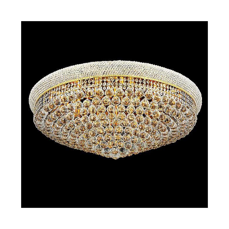 Primo Royal Cut Crystal 20 Light Flushmount Chandelier