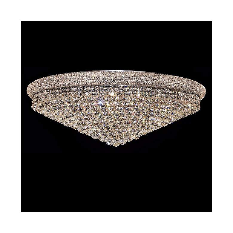"Primo Royal Cut Crystal and Chrome 42"" Wide Ceiling Light"