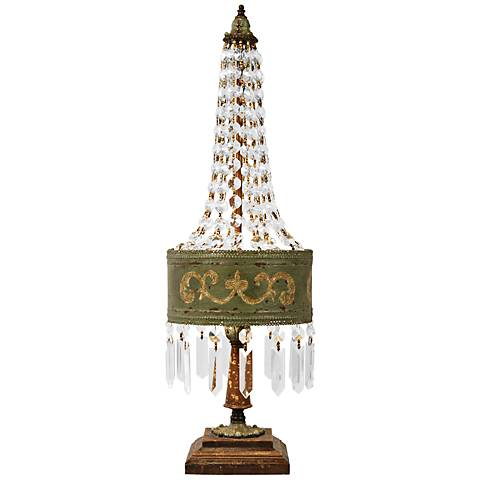 Eiffel Parisian Moss Hand-Painted Table Lamp