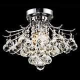 "Toureg Chrome 3-Light 16"" Wide Crystal Ceiling Light"