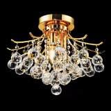"Toureg Gold 16"" Wide Crystal Ceiling Light"