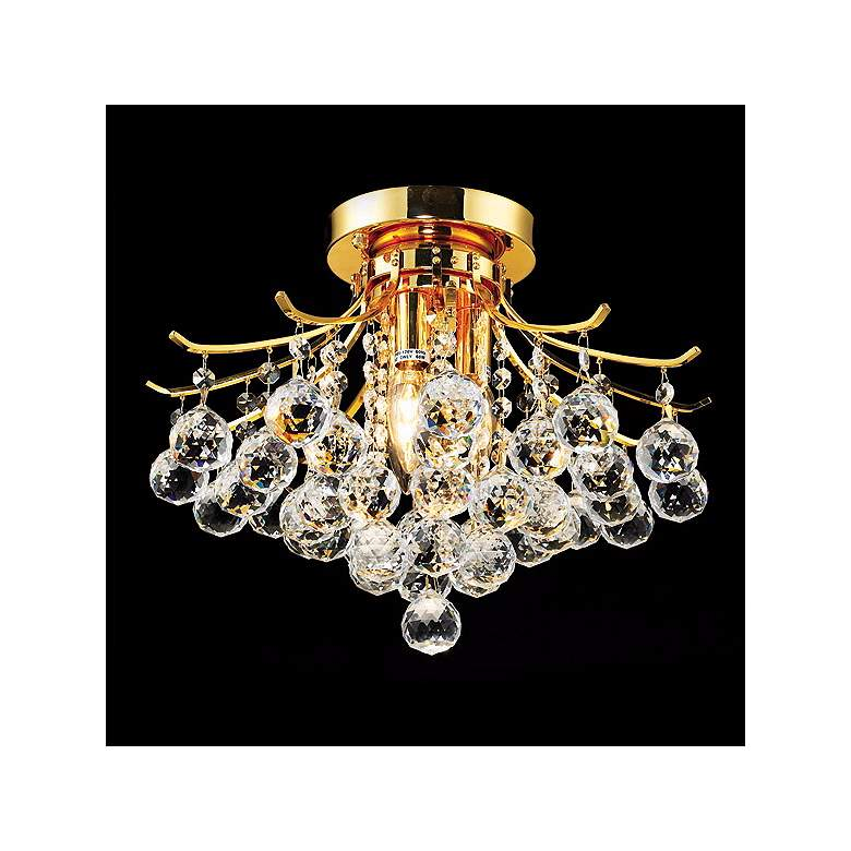 """Toureg Gold 16"""" Wide Traditional Crystal Ceiling Light"""