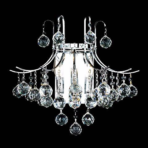 "Toureg 16"" Wide Chrome and Crystal Bath Light"