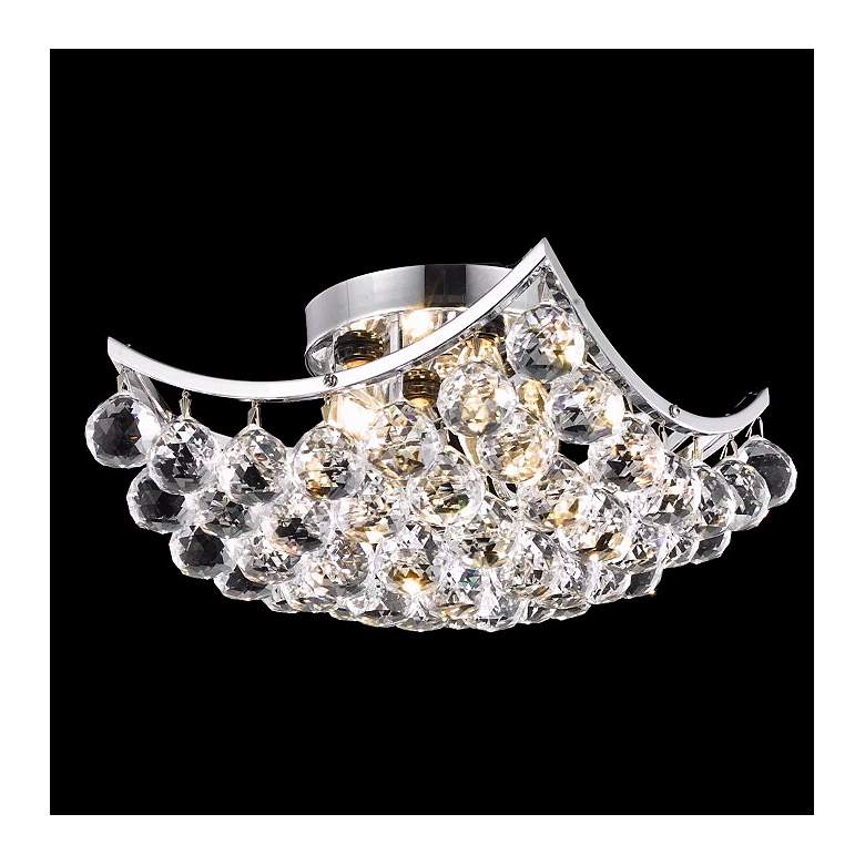 "Corona 12"" Wide Crystal Ceiling Light"