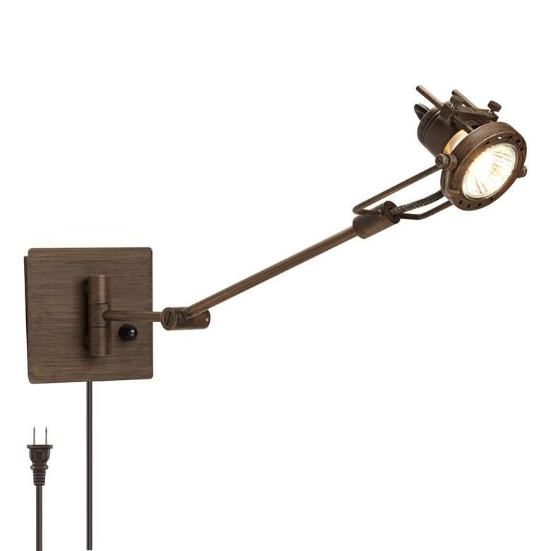 Wilde Spotlight Plug-in Swing Arm Wall Lamp