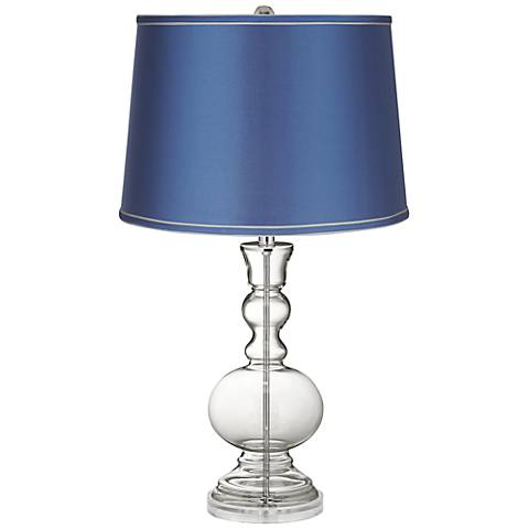 Clear Fillable - Satin Blue Shade Apothecary Table Lamp