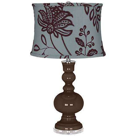 Carafe Apothecary Table Lamp w/ Wine Flower Shade