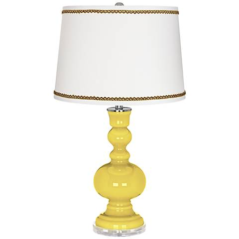 Lemon Twist Apothecary Table Lamp with Twist Scroll Trim