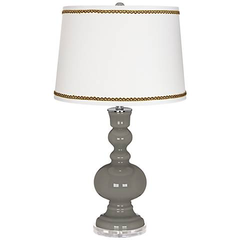 Gauntlet Gray Apothecary Table Lamp with Twist Scroll Trim