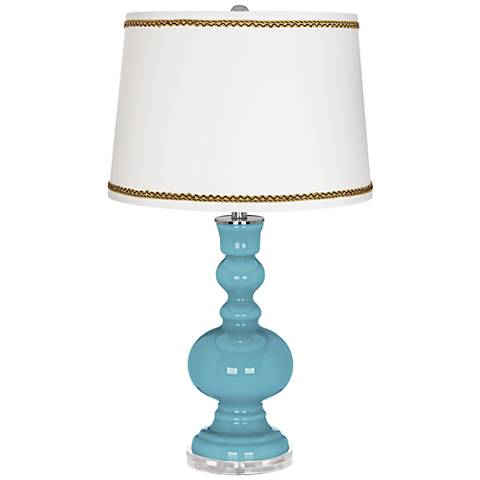 Nautilus Apothecary Table Lamp with Twist Scroll Trim