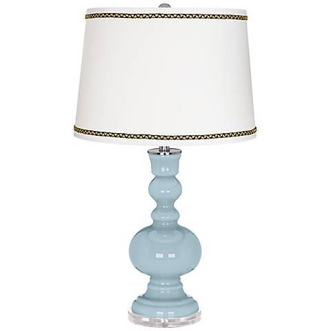 Vast Sky Apothecary Table Lamp with Ric-Rac Trim