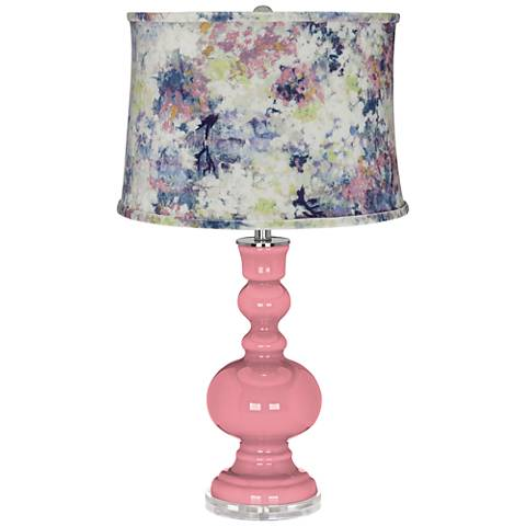 Haute Pink Apothecary Table Lamp w/ Multi-Color Paint Shade