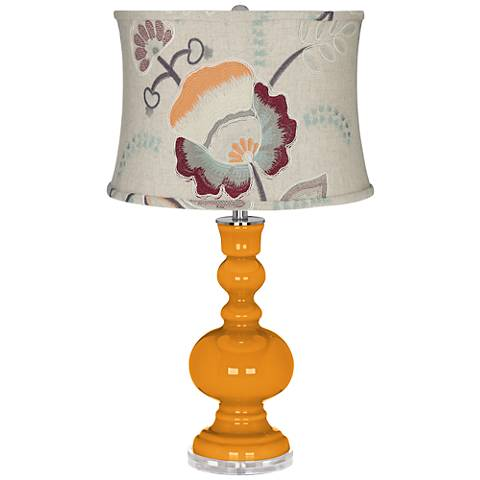 Carnival Apothecary Table Lamp w/ Beige Floral Shade