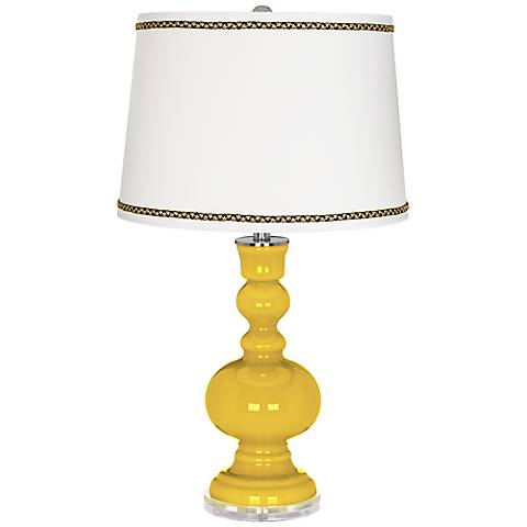 Citrus Apothecary Table Lamp with Ric-Rac Trim