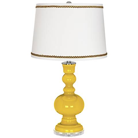 Citrus Apothecary Table Lamp with Twist Scroll Trim
