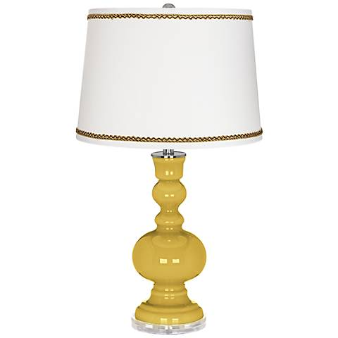 Nugget Apothecary Table Lamp with Twist Scroll Trim