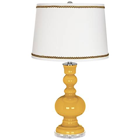 Goldenrod Apothecary Table Lamp with Twist Scroll Trim