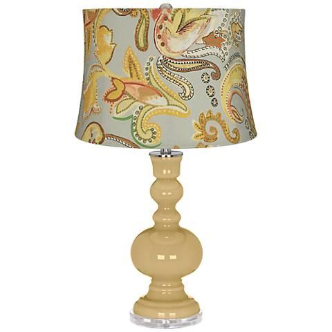 Humble Gold Yellow Paisley Apothecary Table Lamp