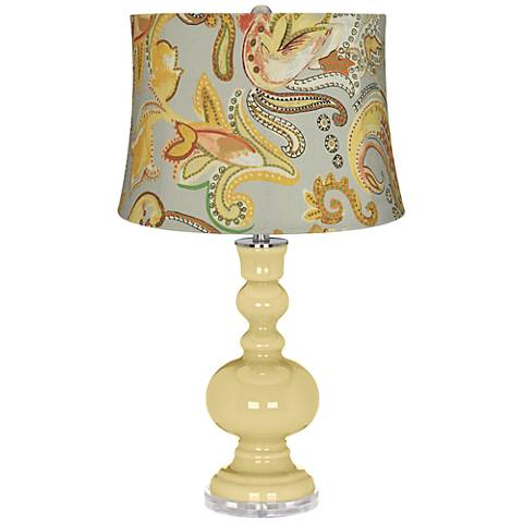 Butter Up Yellow Paisley Apothecary Table Lamp