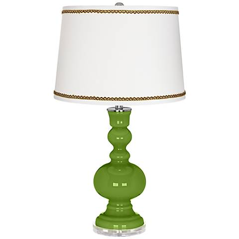 Gecko Apothecary Table Lamp with Twist Scroll Trim