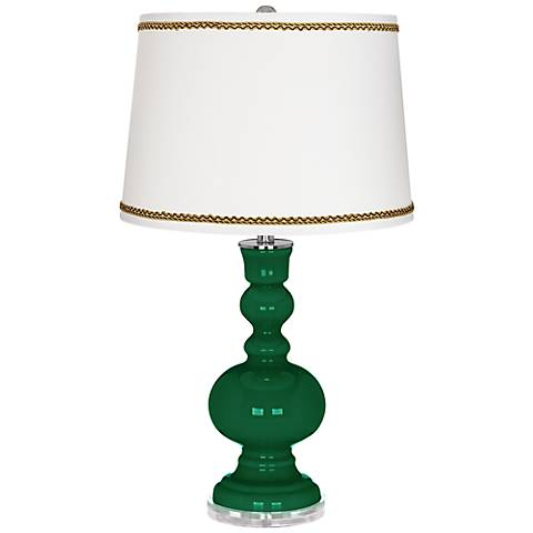 Greens Apothecary Table Lamp with Twist Scroll Trim