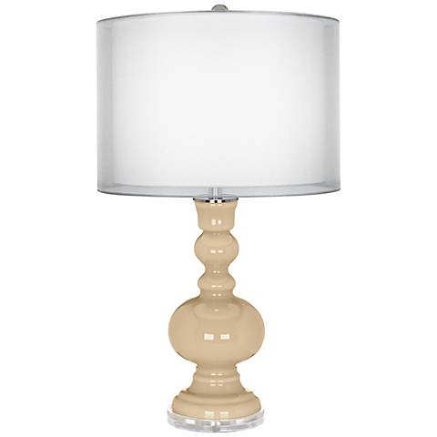 Colonial Tan Sheer Double Shade Apothecary Table Lamp