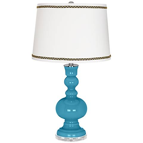 Jamaica Bay Apothecary Table Lamp with Ric-Rac Trim