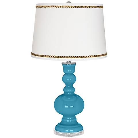 Jamaica Bay Apothecary Table Lamp with Twist Scroll Trim