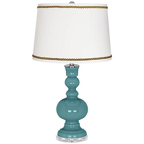 Reflecting Pool Apothecary Table Lamp with Twist Scroll Trim
