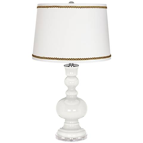 Winter White Apothecary Table Lamp with Twist Scroll Trim