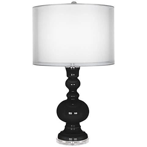 Tricorn Black Sheer Double Shade Apothecary Table Lamp