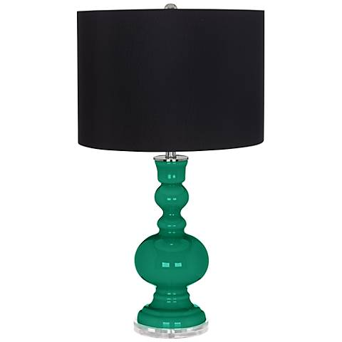 Leaf Black Shade Apothecary Table Lamp
