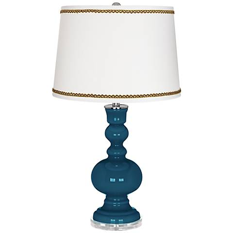 Oceanside Apothecary Table Lamp with Twist Scroll Trim