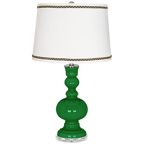 Envy Apothecary Table Lamp with Ric-Rac Trim