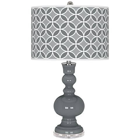 Software Circle Rings Apothecary Table Lamp