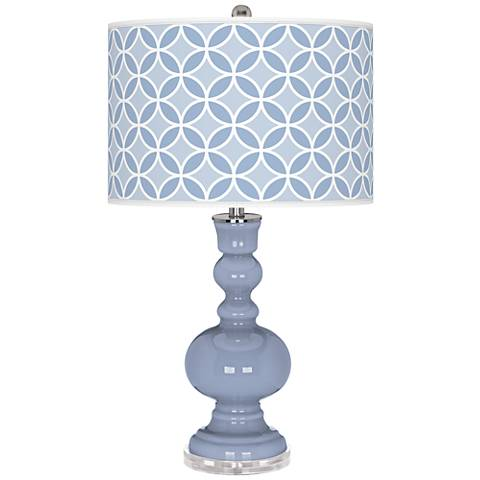Blue Sky Circle Rings Apothecary Table Lamp