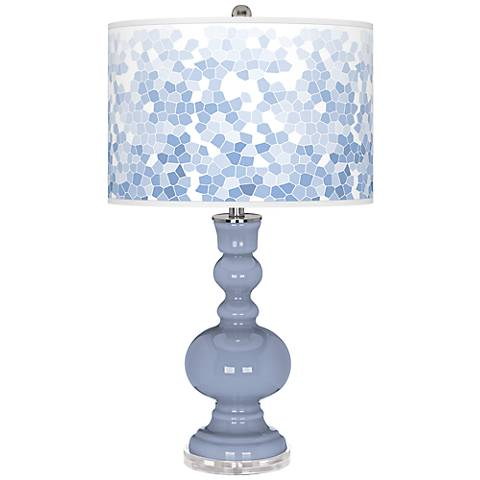 Blue Sky Mosaic Giclee Apothecary Table Lamp