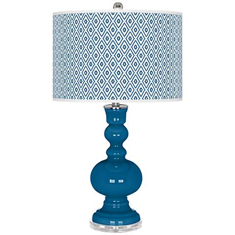 Mykonos Blue Diamonds Apothecary Table Lamp