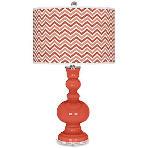 Koi Narrow Zig Zag Apothecary Table Lamp