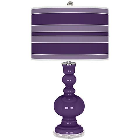 Acai Bold Stripe Apothecary Table Lamp