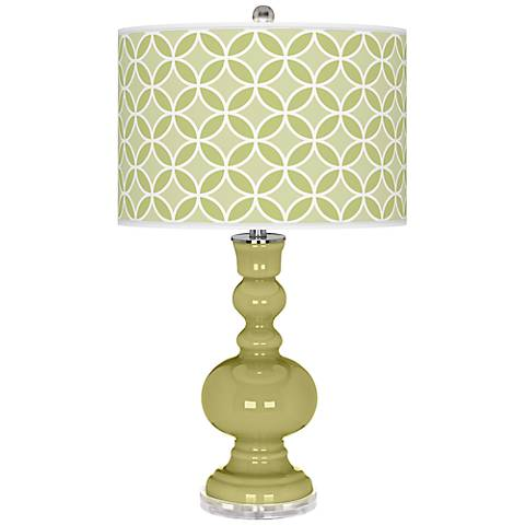 Linden Green Circle Rings Apothecary Table Lamp