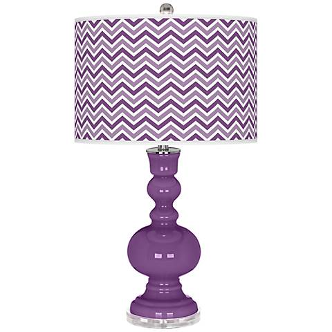 Passionate Purple Narrow Zig Zag Apothecary Table Lamp