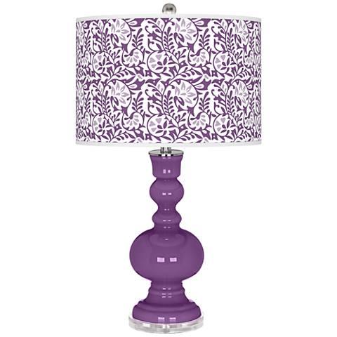Passionate Purple Gardenia Apothecary Table Lamp