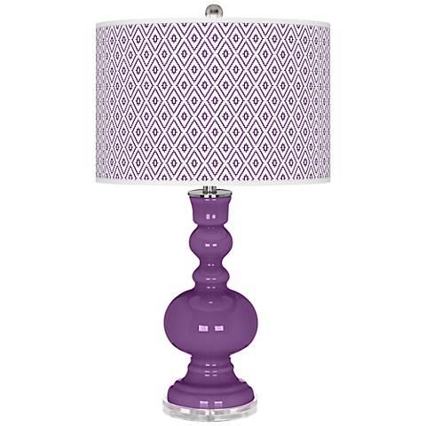 Passionate Purple Diamonds Apothecary Table Lamp