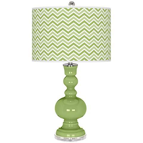 Lime Rickey Narrow Zig Zag Apothecary Table Lamp